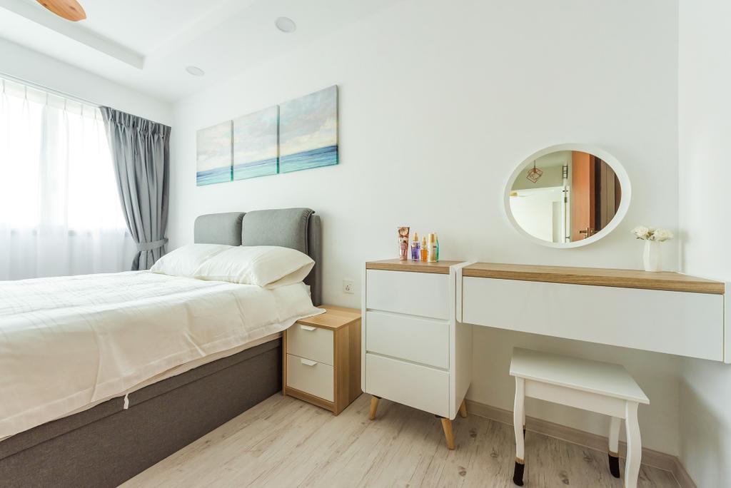 Scandinavian, HDB, Bedroom, Jalan Tenteram, Interior Designer, Tan Studio, Modern