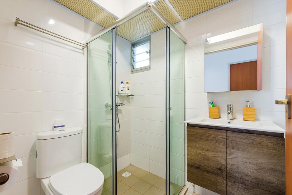 Scandinavian, HDB, Bathroom, Jalan Tenteram, Interior Designer, Tan Studio, Modern