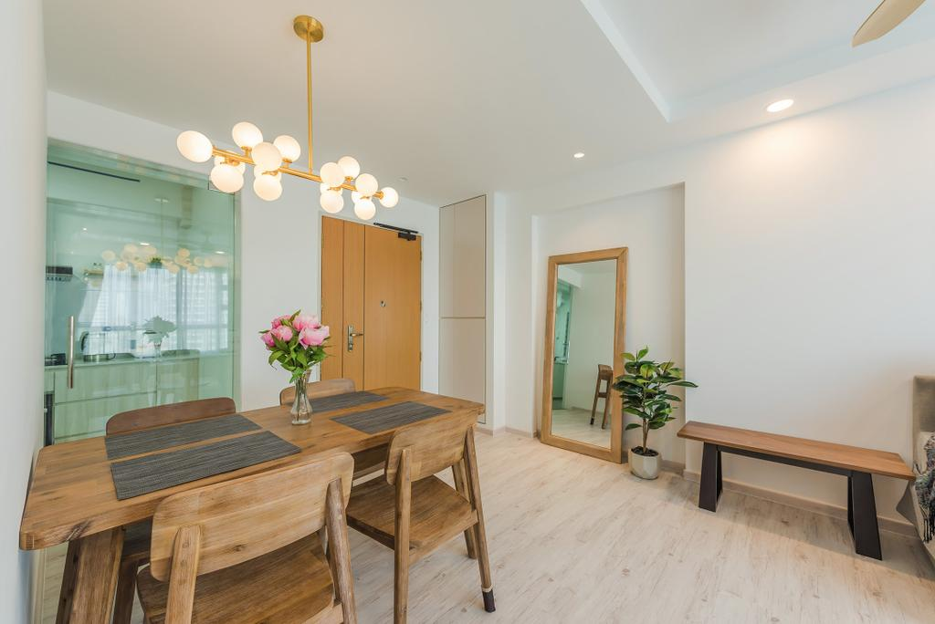 Scandinavian, HDB, Dining Room, Jalan Tenteram, Interior Designer, Tan Studio, Modern