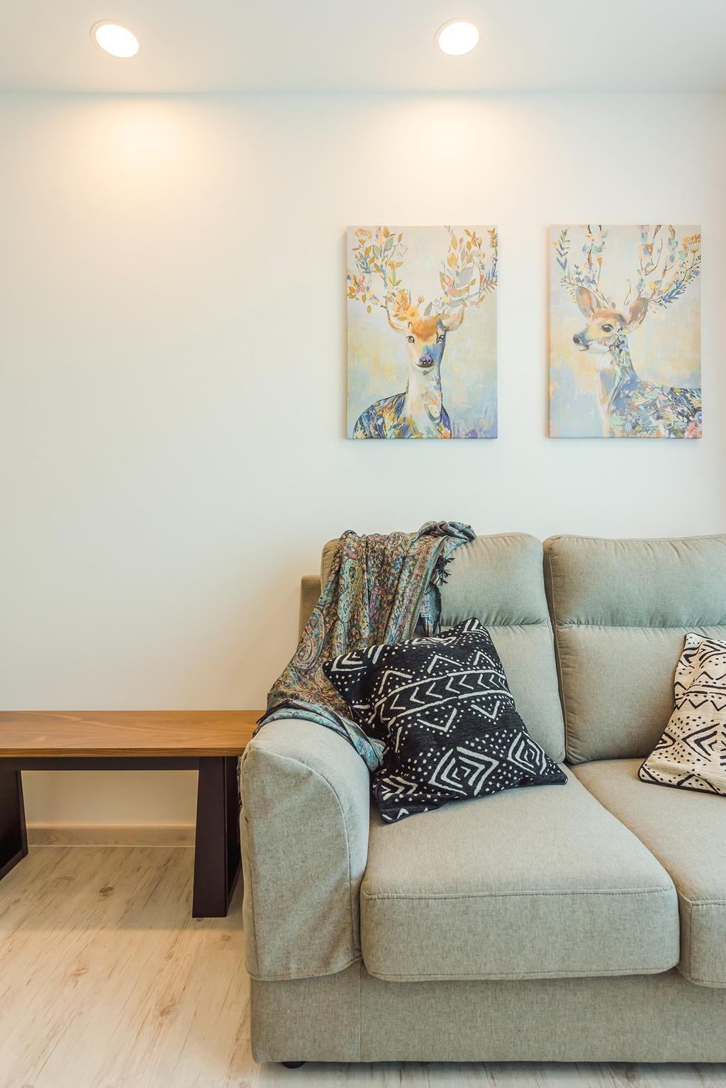 Scandinavian, HDB, Living Room, Jalan Tenteram, Interior Designer, Tan Studio, Modern