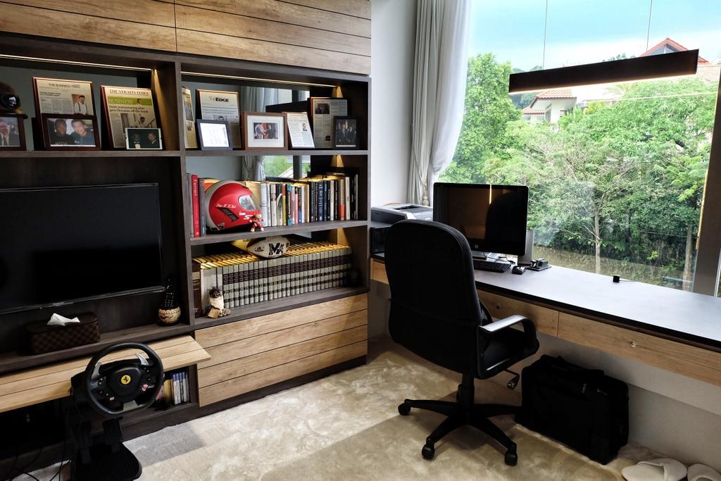 Modern, Condo, Study, YGK Garden, Interior Designer, New Chapter Design.com