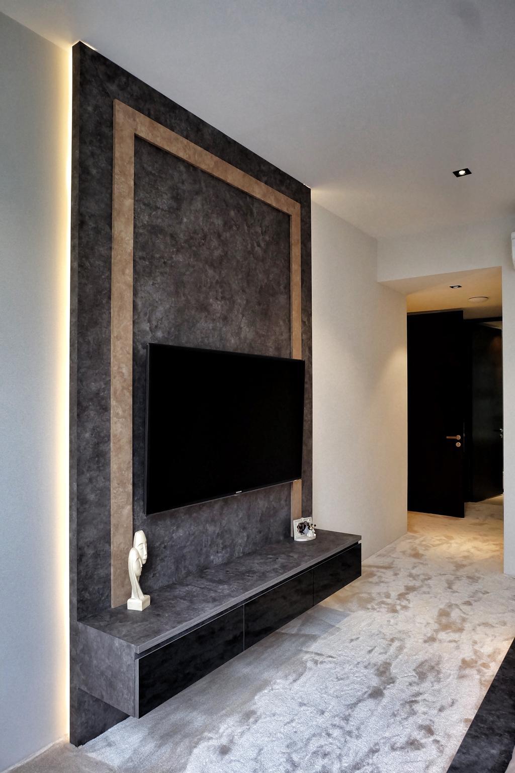 Modern, Condo, Living Room, YGK Garden, Interior Designer, New Chapter Design.com