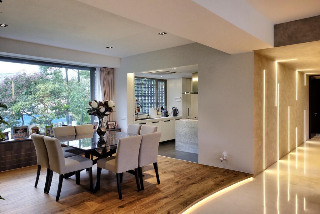Modern, Condo, Dining Room, YGK Garden, Interior Designer, New Chapter Design.com