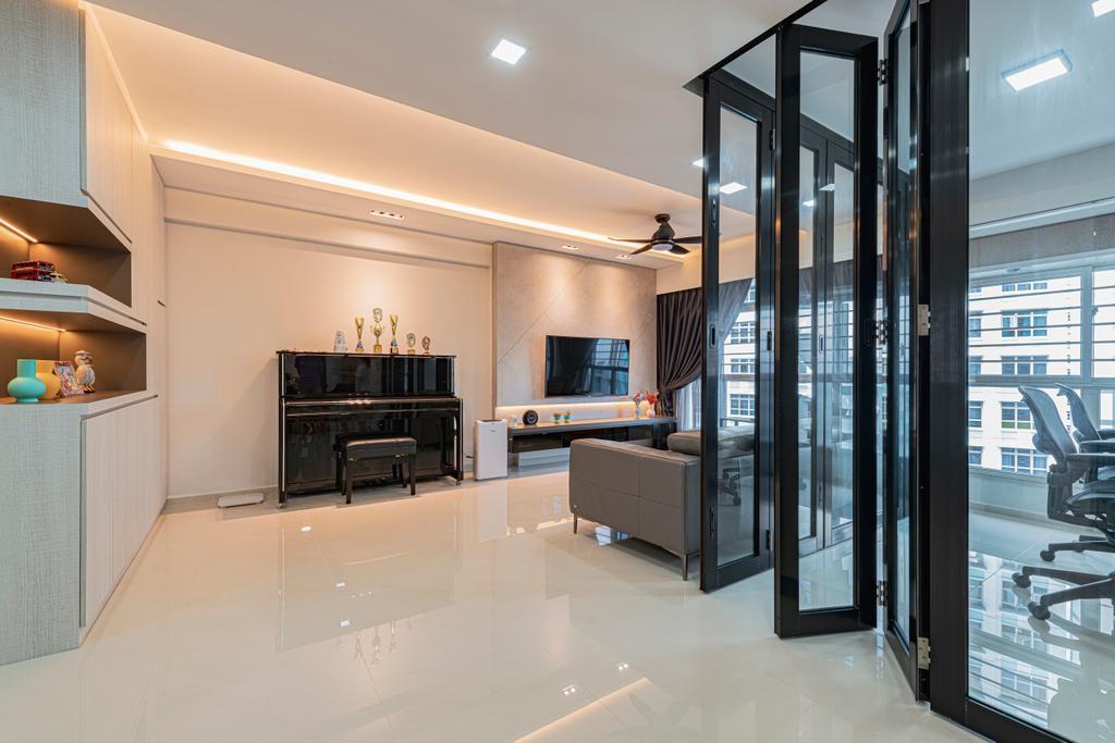 Modern, HDB, Living Room, Sumang Walk, Interior Designer, Renologist