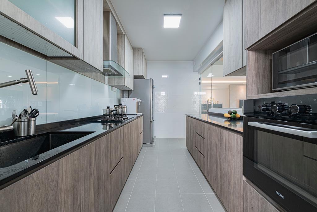 Modern, HDB, Kitchen, Sumang Walk, Interior Designer, Renologist