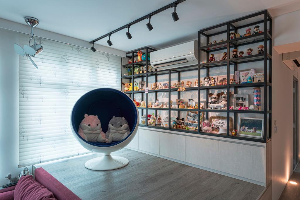 Minimalistic, HDB, Living Room, Keat Hong Close, Interior Designer, Renologist