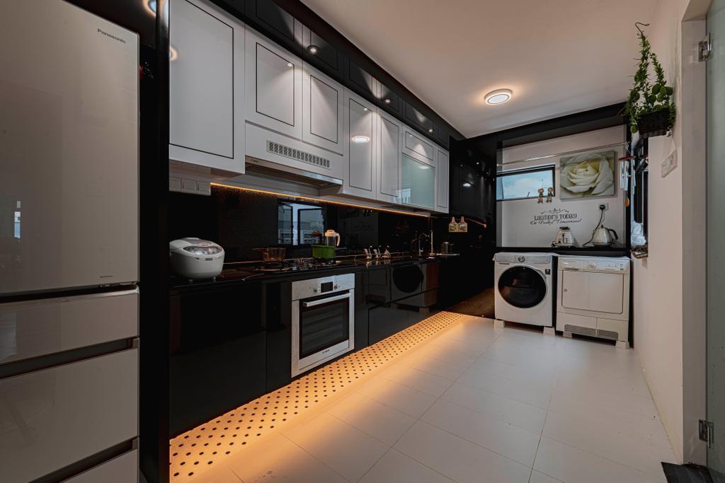 Modern, HDB, Kitchen, Kim Tian Road, Interior Designer, New Chapter Design.com
