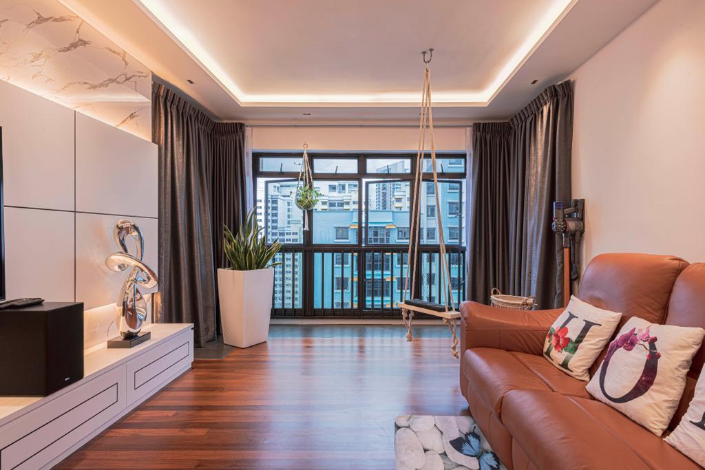 Modern, HDB, Living Room, Kim Tian Road, Interior Designer, New Chapter Design.com