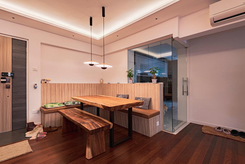Modern, HDB, Dining Room, Kim Tian Road, Interior Designer, New Chapter Design.com