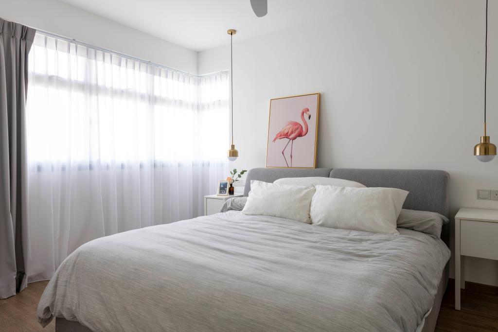 Eclectic, HDB, Bedroom, SkyPeak @Bukit Batok, Interior Designer, New Chapter Design.com