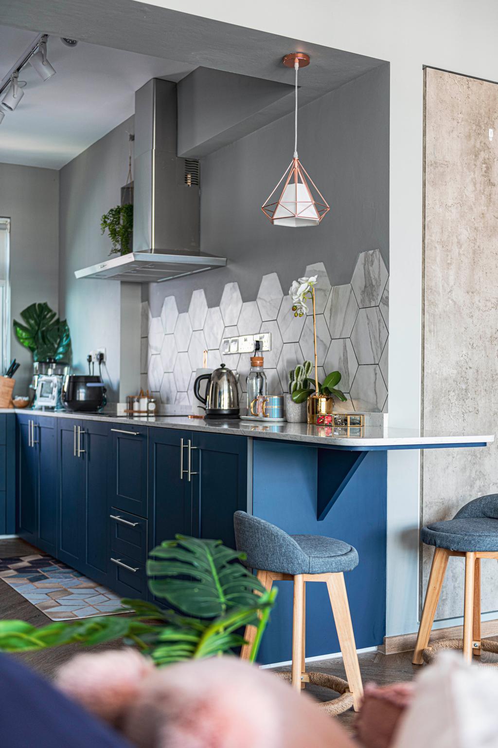 Eclectic, HDB, Kitchen, SkyPeak @Bukit Batok, Interior Designer, New Chapter Design.com