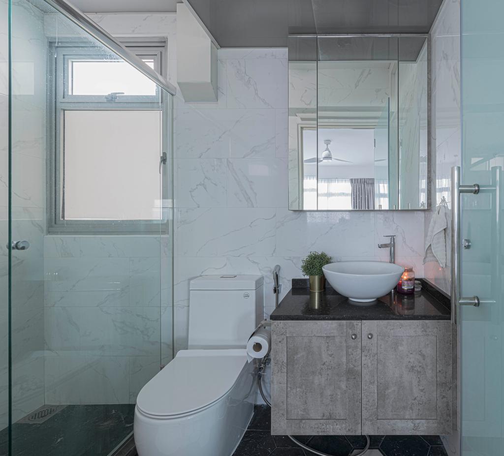 Eclectic, HDB, Bathroom, SkyPeak @Bukit Batok, Interior Designer, New Chapter Design.com