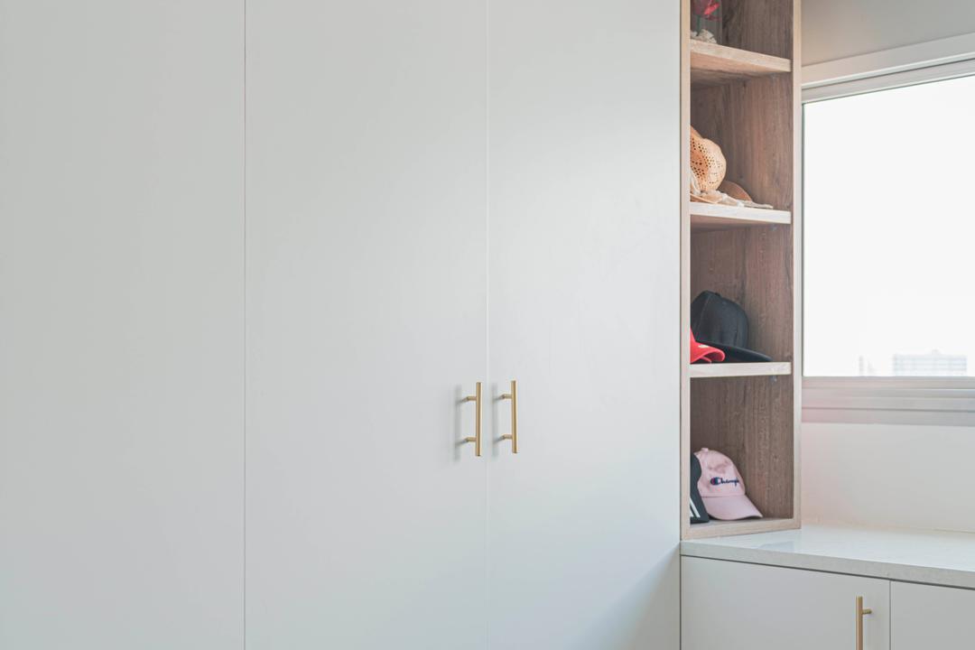 SkyPeak @Bukit Batok, New Chapter Design.com, Eclectic, Bedroom, HDB, Window Storage, Cap Storage, Dead Corner