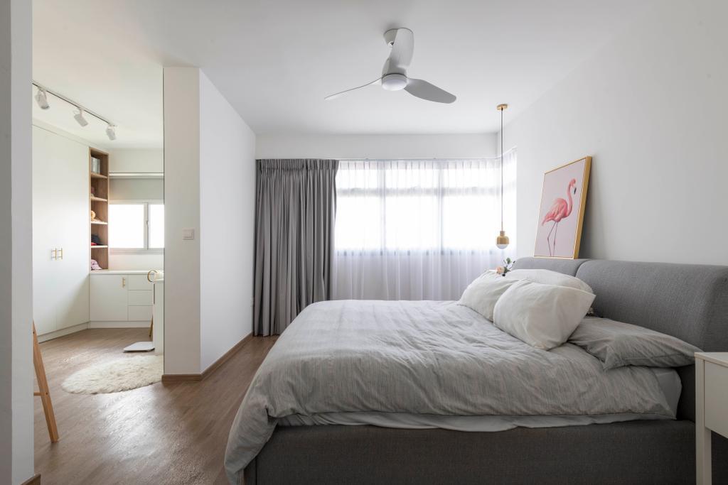 Eclectic, HDB, Bedroom, SkyPeak @Bukit Batok, Interior Designer, New Chapter Design.com, Walk In Wardrobe, Wardrobe, Dressing Room, Dresser