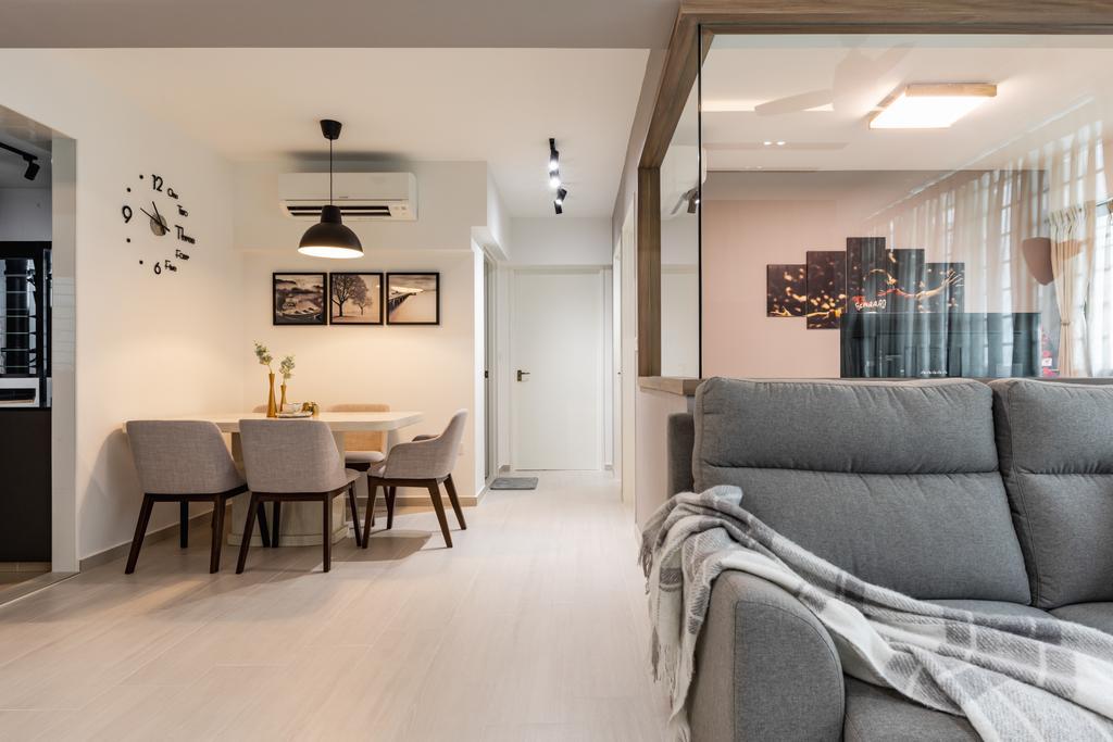 Scandinavian, HDB, Dining Room, Yishun Avenue 6, Interior Designer, The Makers Design Studio