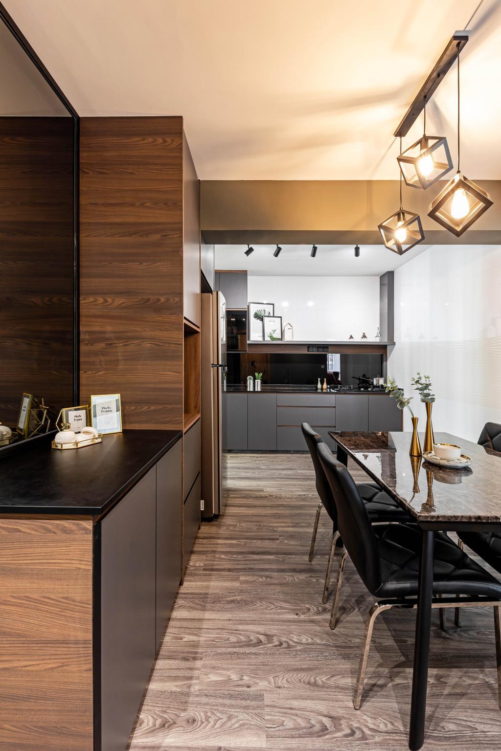 Contemporary, HDB, Kitchen, Bukit Batok West Avenue 8, Interior Designer, The Makers Design Studio