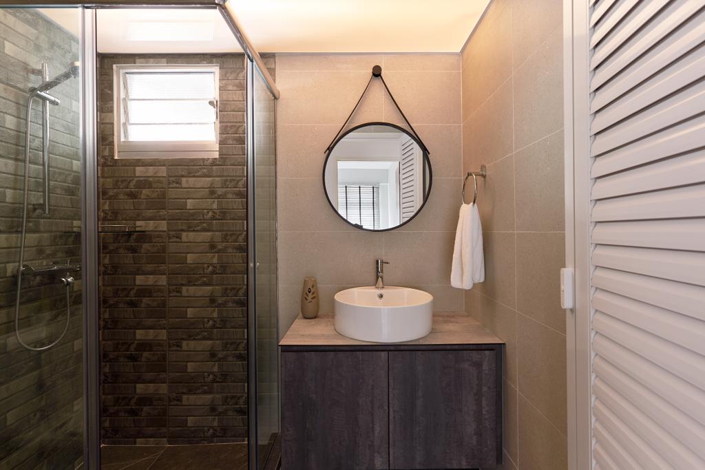 Contemporary, HDB, Bathroom, Bukit Batok West Avenue 8, Interior Designer, Swiss Interior Design