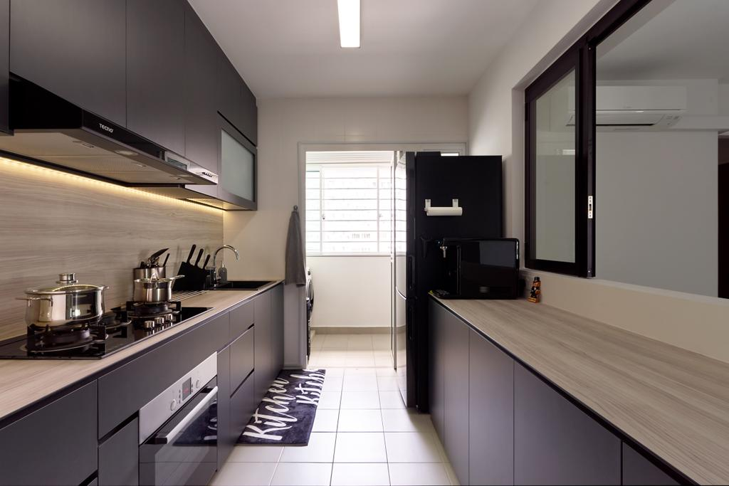 Contemporary, HDB, Kitchen, McNair Road, Interior Designer, Swiss Interior Design, Modern