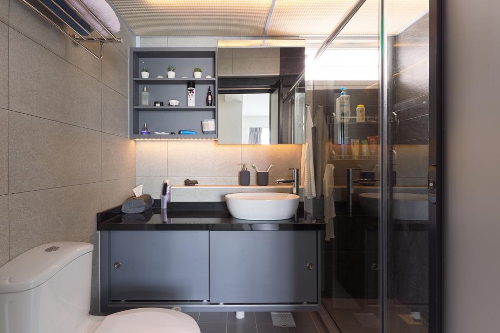 Contemporary, HDB, Bathroom, McNair Road, Interior Designer, Swiss Interior Design, Modern