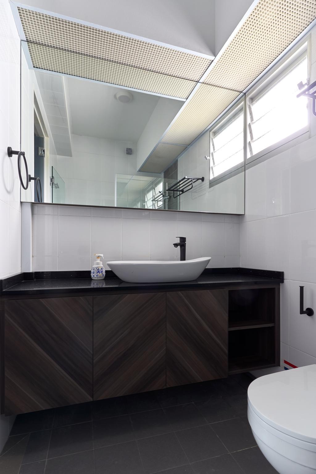 Contemporary, HDB, Bathroom, Ang Mo Kio Street 44, Interior Designer, Swiss Interior Design