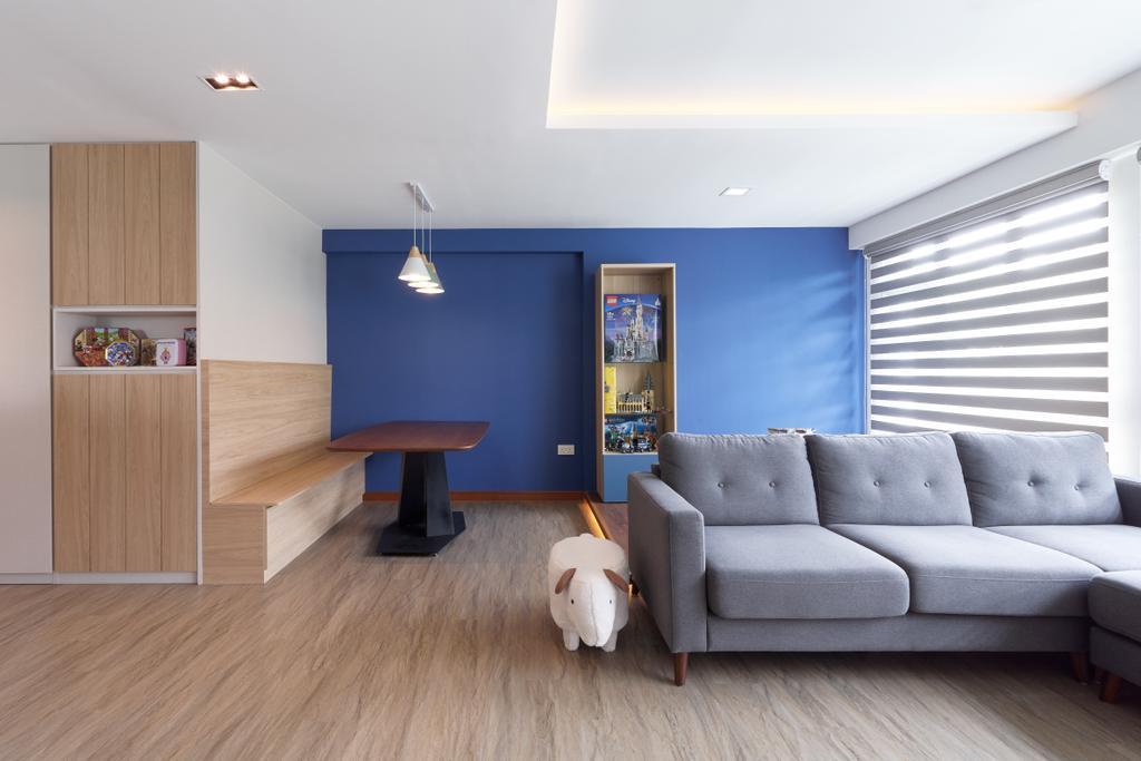 Contemporary, HDB, Living Room, Ang Mo Kio Street 44, Interior Designer, Swiss Interior Design