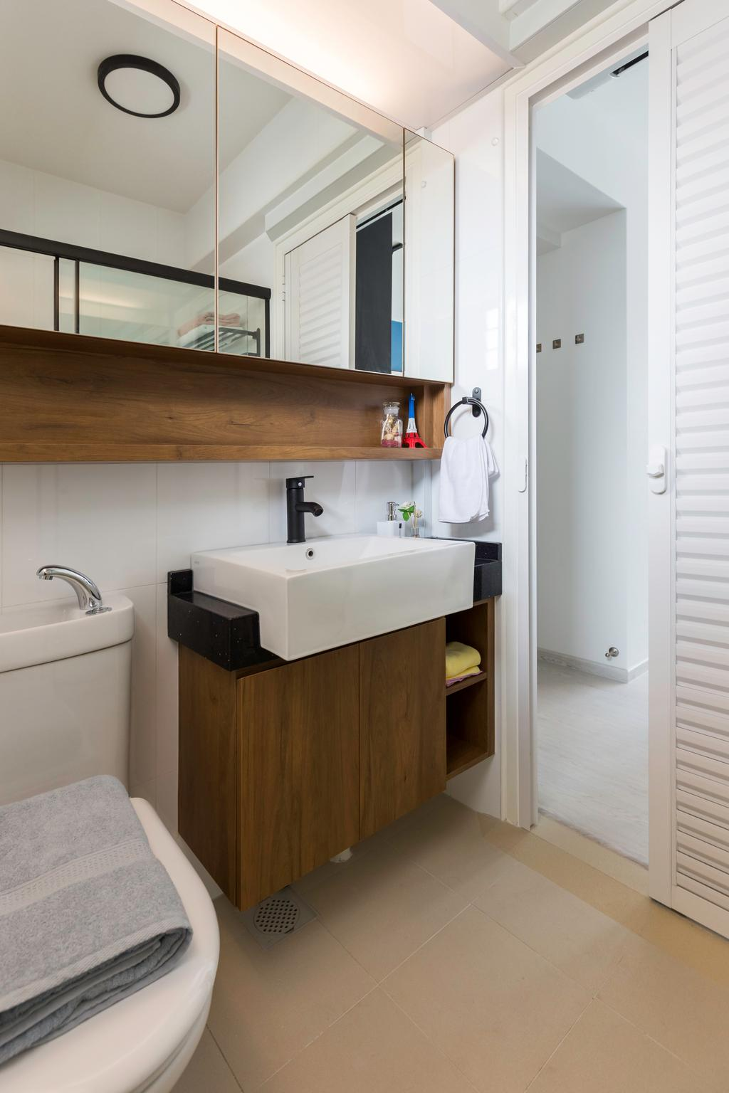 Contemporary, HDB, Bathroom, Bukit Batok West Avenue 8, Interior Designer, Swiss Interior Design, Scandinavian