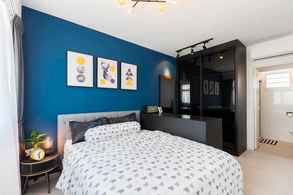 Contemporary, HDB, Bedroom, Bukit Batok West Avenue 8, Interior Designer, Swiss Interior Design, Scandinavian