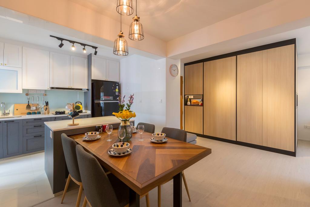 Contemporary, HDB, Dining Room, Bukit Batok West Avenue 8, Interior Designer, Swiss Interior Design, Scandinavian