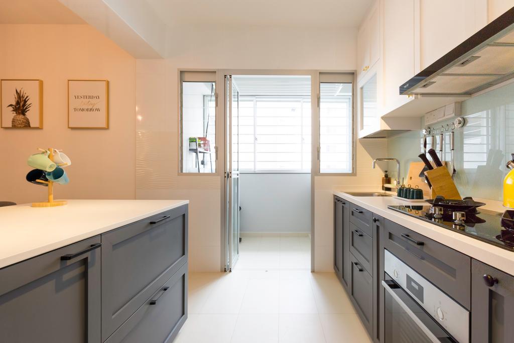 Contemporary, HDB, Kitchen, Bukit Batok West Avenue 8, Interior Designer, Swiss Interior Design, Scandinavian