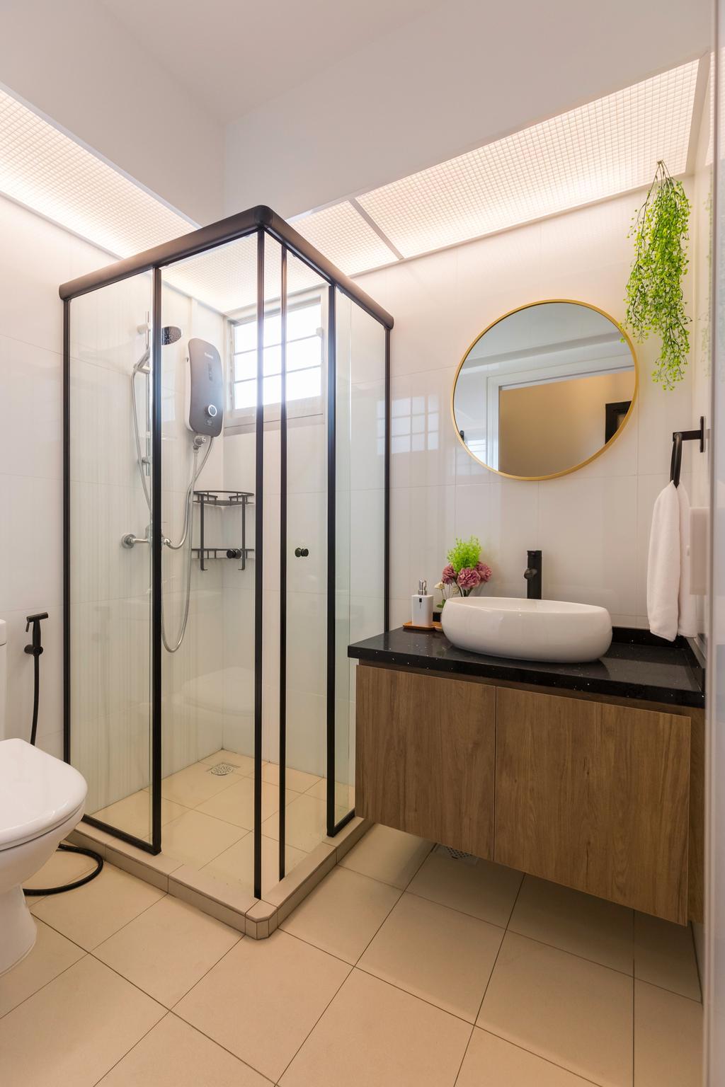 Contemporary, HDB, Bathroom, Bukit Batok West Avenue 8, Interior Designer, Swiss Interior Design, Scandinavian