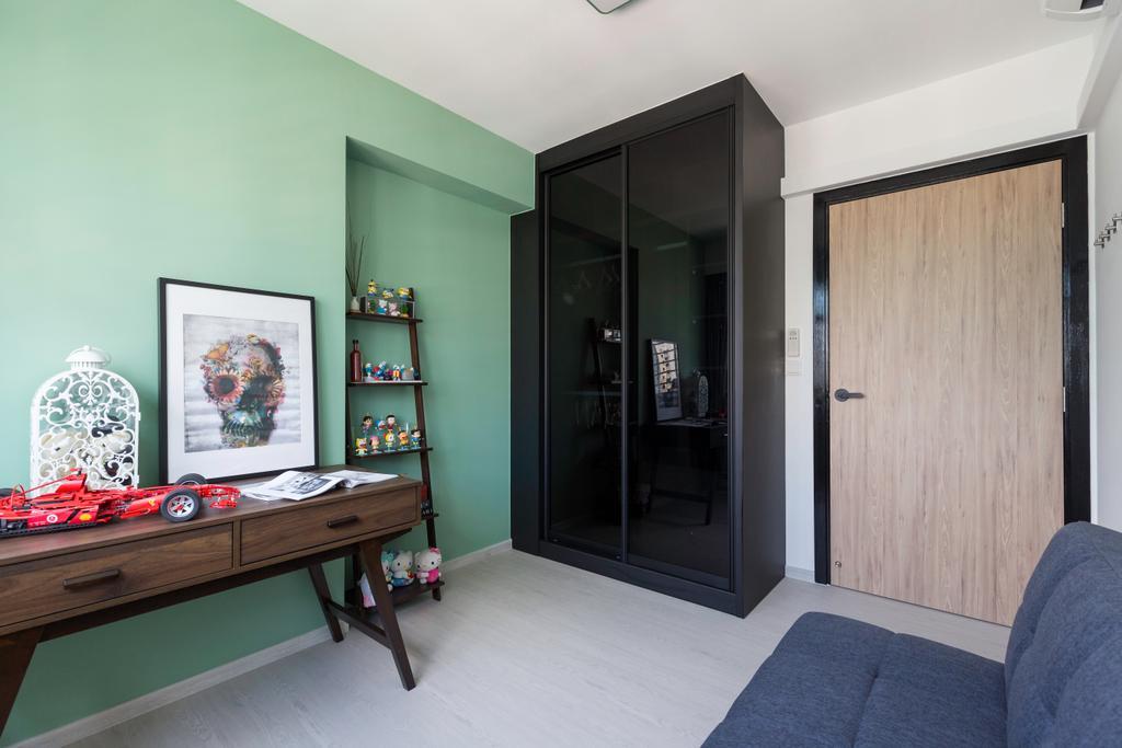 Contemporary, HDB, Study, Bukit Batok West Avenue 8, Interior Designer, Swiss Interior Design, Scandinavian