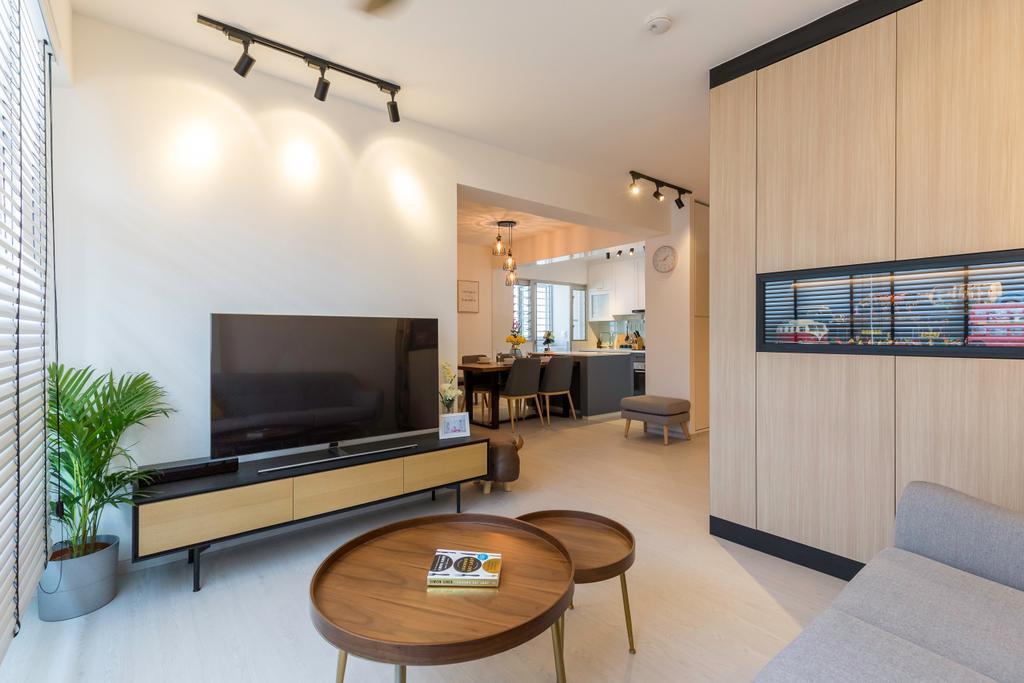 Contemporary, HDB, Living Room, Bukit Batok West Avenue 8, Interior Designer, Swiss Interior Design, Scandinavian