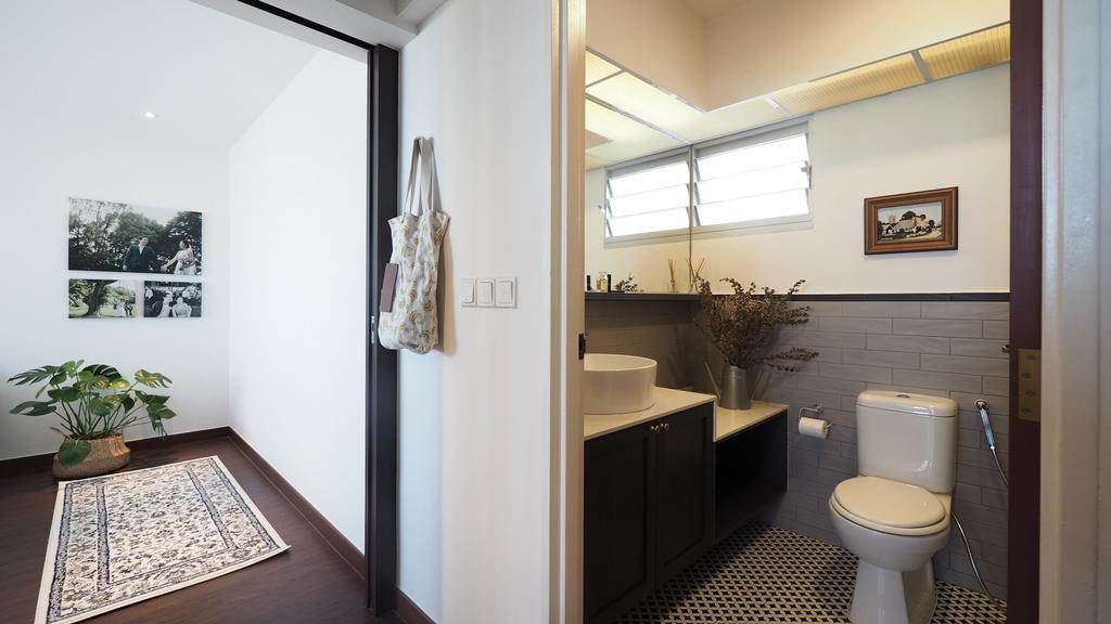 Contemporary, HDB, Bathroom, Clementi, Interior Designer, D'Brain Studio, Eclectic