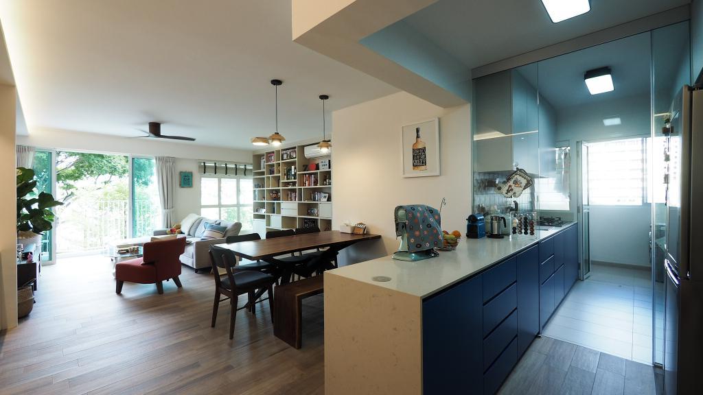 Contemporary, HDB, Dining Room, Kallang, Interior Designer, D'Brain Studio