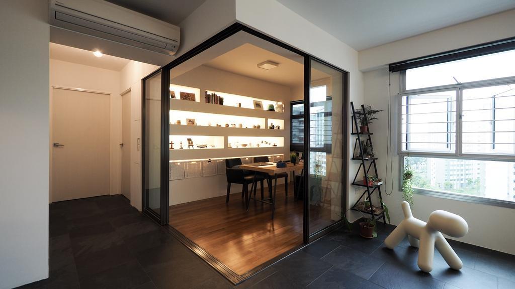 Contemporary, HDB, Study, Yishun, Interior Designer, D'Brain Studio