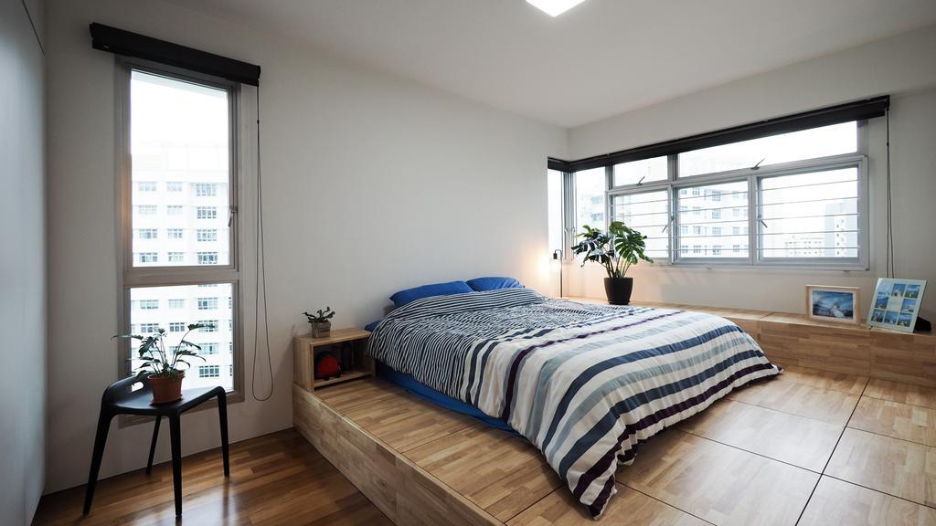 Contemporary, HDB, Bedroom, Yishun, Interior Designer, D'Brain Studio