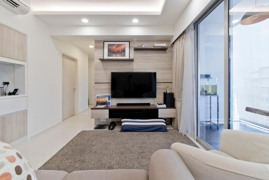 Contemporary, Condo, Living Room, Pasir Ris Link, Interior Designer, Pavilon BC