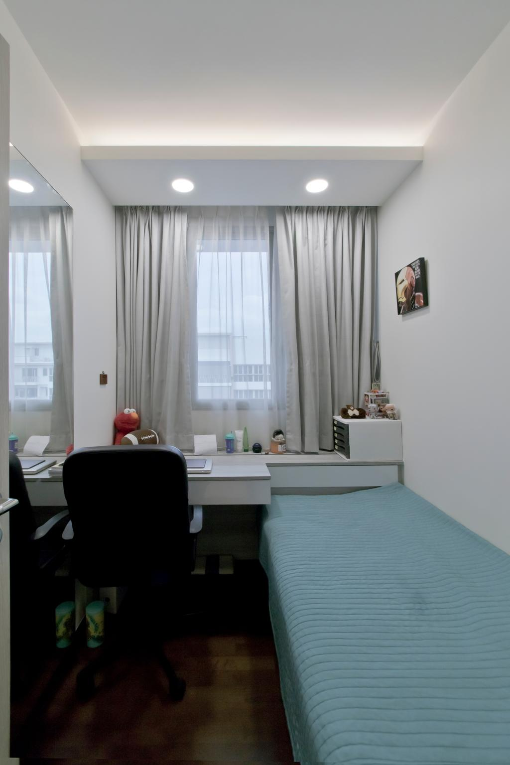 Contemporary, Condo, Bedroom, Pasir Ris Link, Interior Designer, Pavilon BC