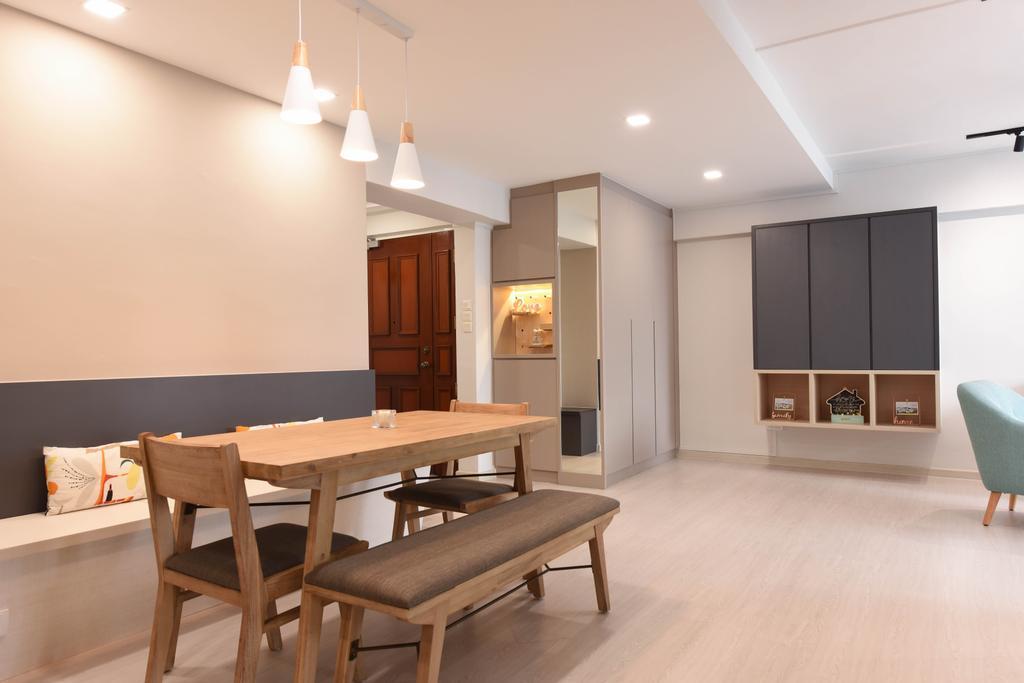 Modern, HDB, Dining Room, Jurong West Street 65, Interior Designer, Starry Homestead, Scandinavian
