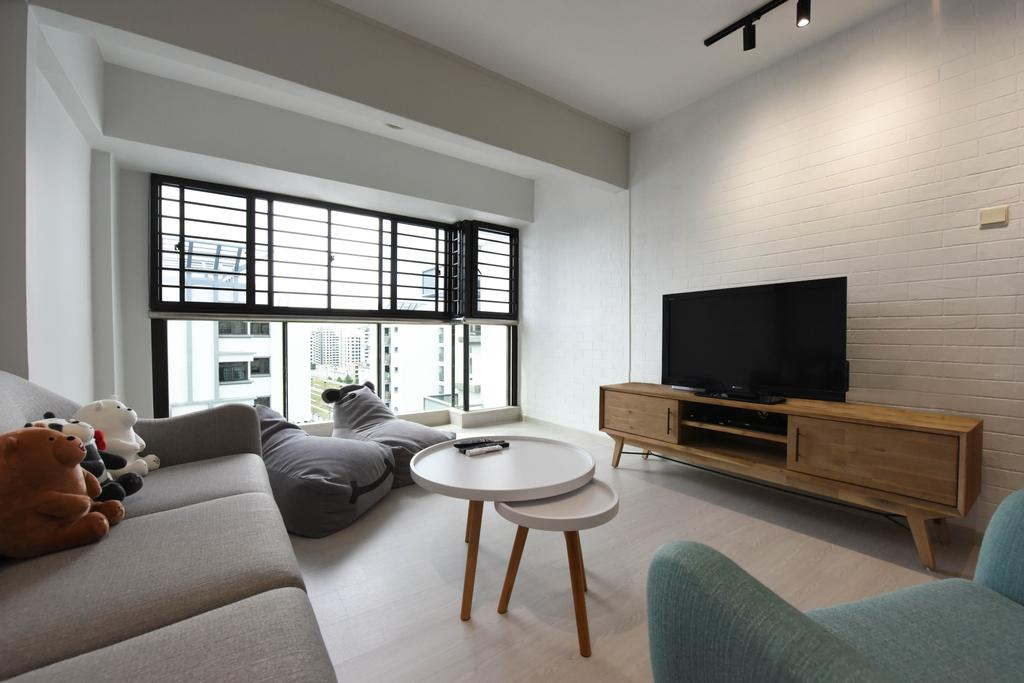 Modern, HDB, Living Room, Jurong West Street 65, Interior Designer, Starry Homestead, Scandinavian