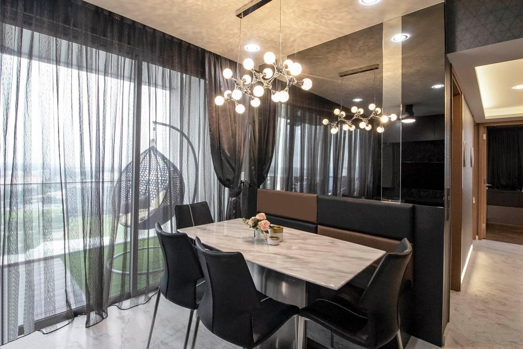 Modern, Condo, Dining Room, Centro Residences, Interior Designer, Starry Homestead