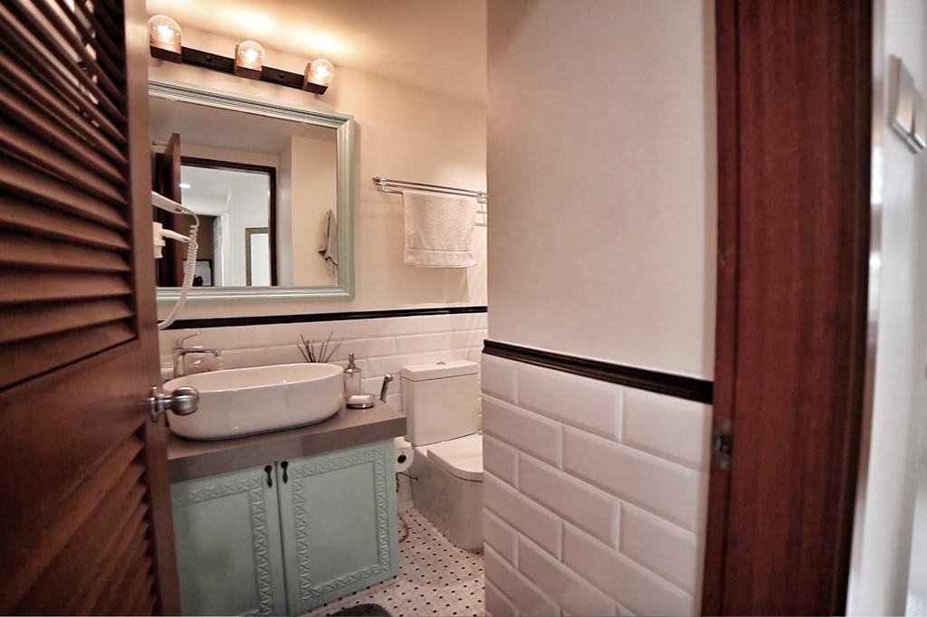 Eclectic, Condo, Bathroom, Sandy Palm, Interior Designer, New Chapter Design.com