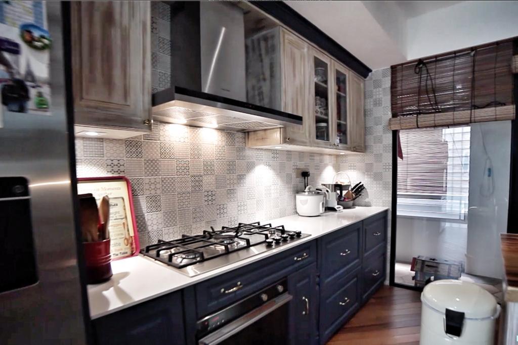 Eclectic, Condo, Kitchen, Sandy Palm, Interior Designer, New Chapter Design.com