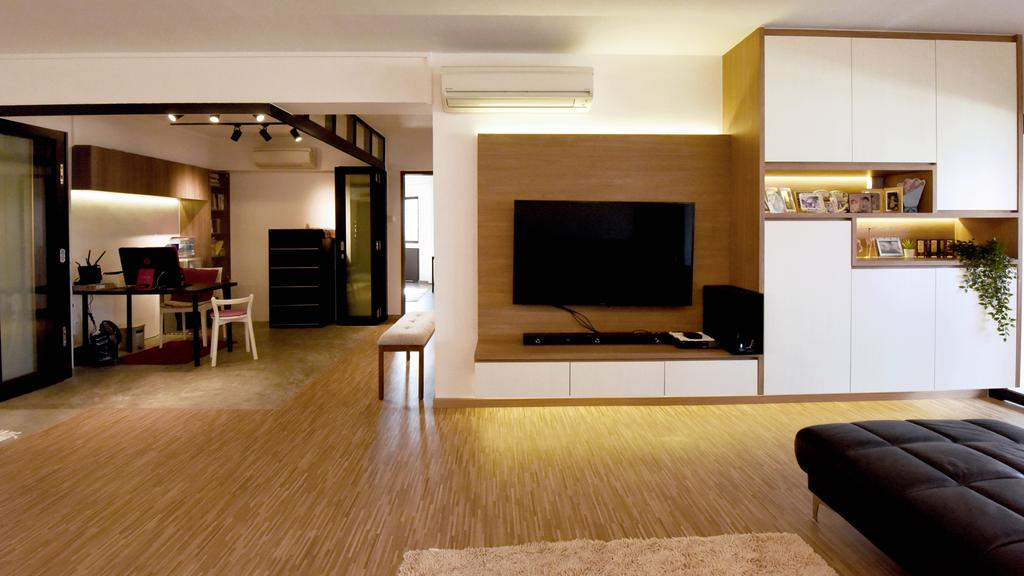Contemporary, HDB, Living Room, Elias Road, Interior Designer, Starry Homestead