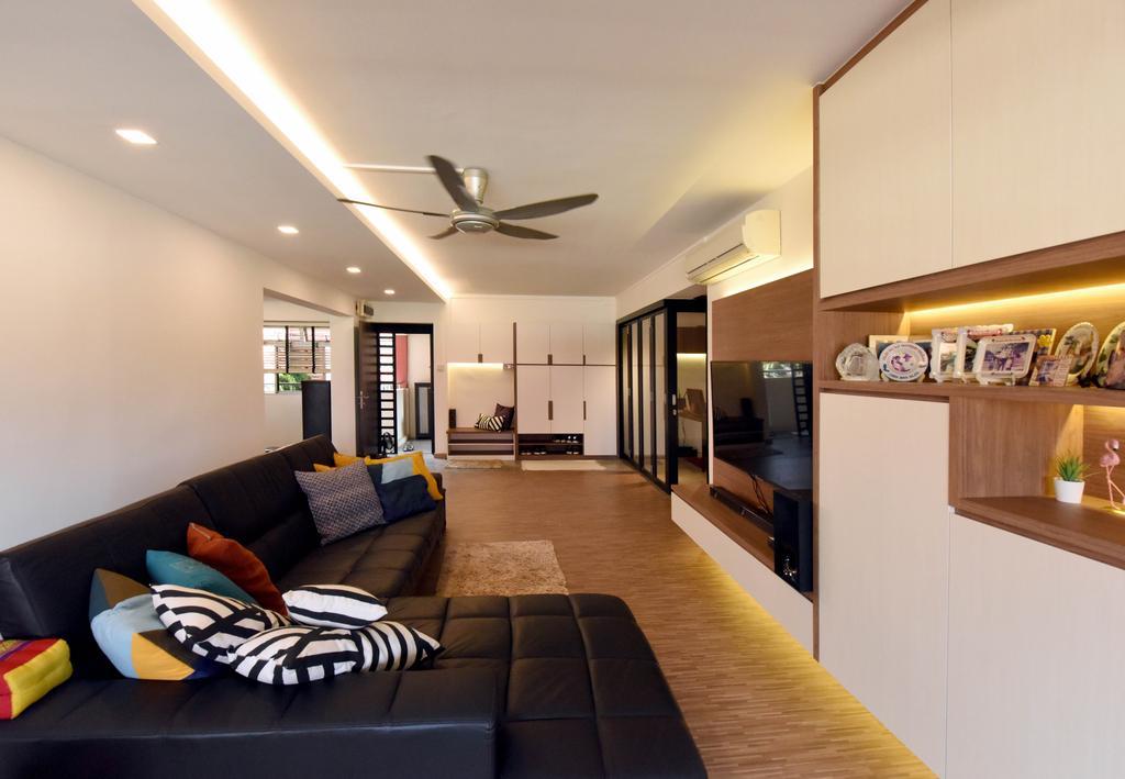 Contemporary, HDB, Living Room, Elias Road, Interior Designer, Starry Homestead