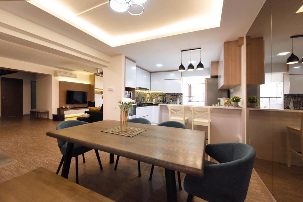 Contemporary, HDB, Dining Room, Elias Road, Interior Designer, Starry Homestead