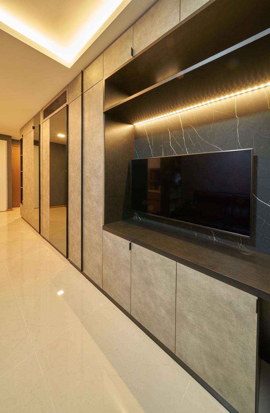 Contemporary, Condo, Living Room, Kingsford Waterbay, Interior Designer, Ovon Design