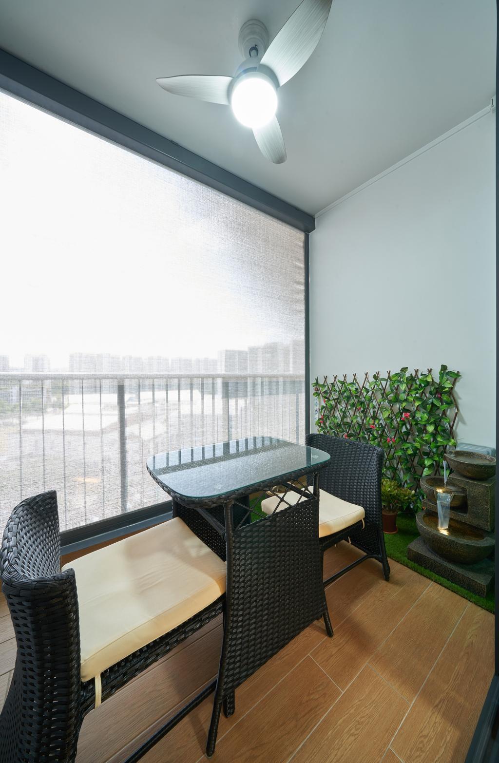 Contemporary, Condo, Balcony, Kingsford Waterbay, Interior Designer, Ovon Design