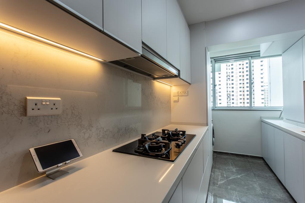 Contemporary, HDB, Kitchen, Telok Blangah Street 31, Interior Designer, Ovon Design