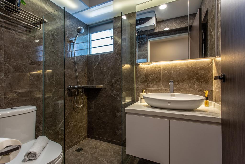 Contemporary, HDB, Bathroom, Telok Blangah Street 31, Interior Designer, Ovon Design